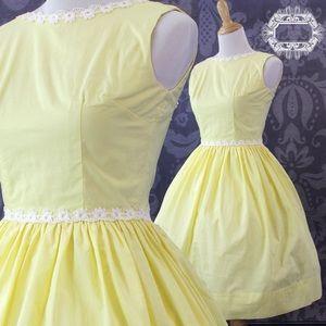 🐥 1950 VINTAGE COTTON SUMMER DRESS